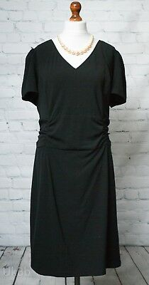 2341df3d8d Magisculpt Black Panel Dress Size 24 Control Slimming Ruched LE303 New With  Tags
