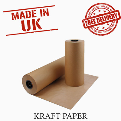 1 x Quality Heavy Duty Wrapping Packing Kraft Paper Roll (600mm x 225m) 90GSM