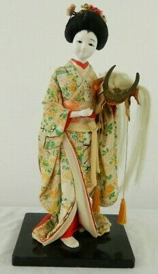 Antique Vintage Japanese Geisha Girl Doll Made In Japan Asian Kimono Figurine