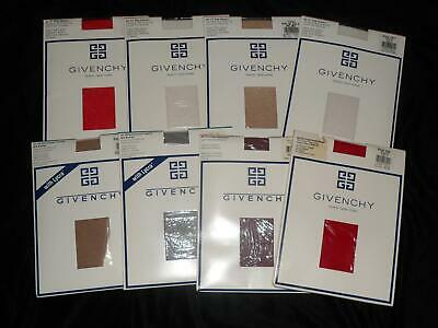 8 Vtg Givenchy Pantyhose LOT SET SHIMMERY SHEER Body Gleamers FRENCH SUEDE Sz B