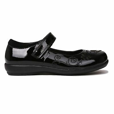 Kangol Kids Girls Ribston Shoes Childs Mary Janes Padded Ankle Collar Hook and