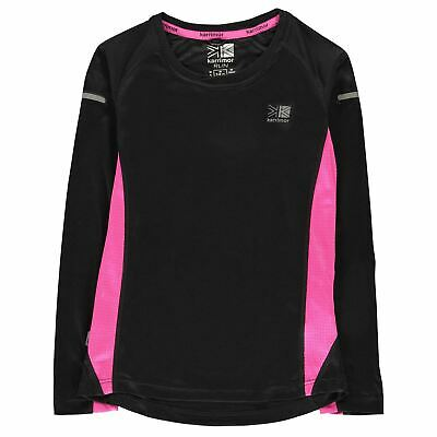 Karrimor Kids Girls Long Sleeved Running Top Sleeve Performance Shirt Crew Neck