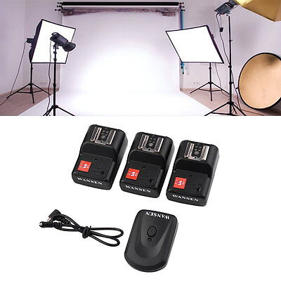 PT-04 GY 4 Channels Wireless/Radio Flash Trigger SET with 3 Receivers OP✯