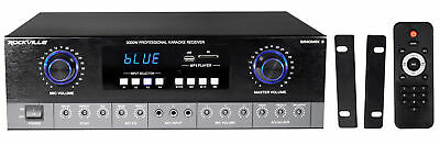 Rockville SingMix 3 Rack Mount 3000w Karaoke Amplifier/Mic Mixer+Bluetooth/Echo