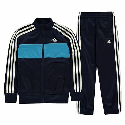 d87430034d56 adidas Tiberio Tracksuit Youngster Boys Poly Zip Stripe Warm Colour Block