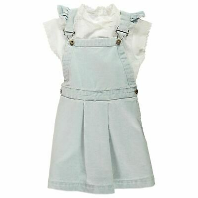 Crafted Kids Girls Dungaree Set Infant Clothing Capped Sleeve High Neck