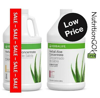 NEW HERBALIFE HERBAL ALOE CONCENTRATE 1/2 Gallon OR Pint ALL FLAVORS | TAX-FREE