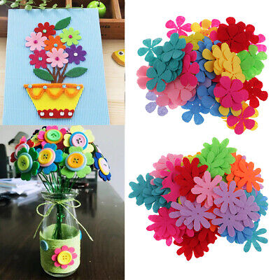 200 Felt Flowers Fabric Applique Pads Felt Patches for DIY Decoration Crafts