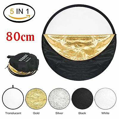 """80cm 32"""" 5 in 1 Photography Studio Multi Photo Disc Collapsible Light Reflecto8✯"""