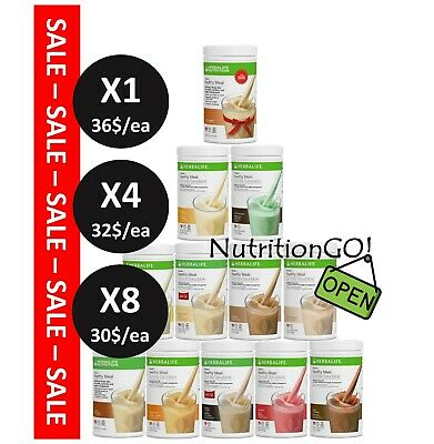 1X/4X/8X NEW HERBALIFE Formula 1 Healthy Meal Nutritional Shake Mix ALLFLAVORS
