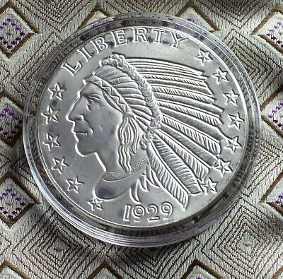 1929 Incuse Indian 1 Troy Oz. Silver Round ( 1 Coin ) ( Itm#8424 )