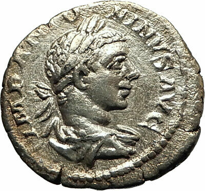 ELAGABALUS 218AD Rome Authentic Ancient Silver Roman Coin Fides Trust i77068