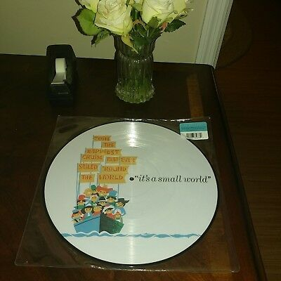 Disney Parks It's a Small World Vinyl Picture Disc 12 inch Record Soundtrack NEW