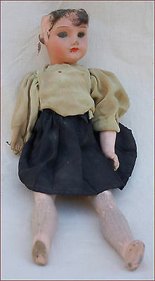 "SFBJ Composition Incassable Doll 3/0 10"" Tall Paris Made in France"