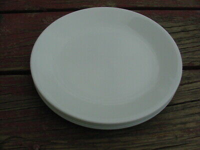 """8 Corelle 8.5"""" Frost White Luncheon Plates Corning"""