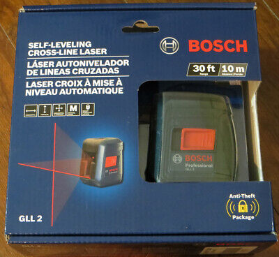 New Bosch Gll 2 Self-Leveling Cross-Line Laser 30 Ft