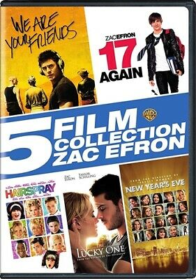 5 FILM COLLECTION ZAC EFRON New DVD 17 Again Hairspray Lucky One New Year's Eve