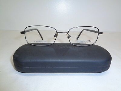 e2973ad1c654 Timex Optical Eyewear T234 Pewter Gray Stainless Steel New Mens Eyeglass  Frames