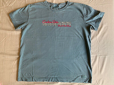 Life Is Good Ladies Short Sleeve Carolina Girls Bad To The Bone Shirt Large GUC