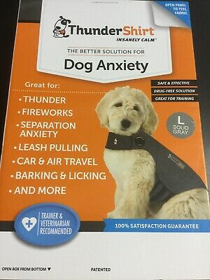 ThunderShirt Classic Dog Anxiety Jacket Large - Solid Grey #1172