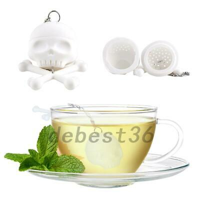 1X Tea Infuser Loose Leaf Strainer Herbal Silicone Filter Diffuser Green J1F7