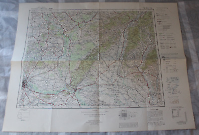 Map Outline Map of Central Europe 1:3 00000 P49 Vienna East Reichsamt