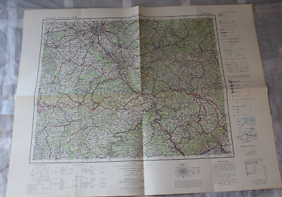 Map Outline Map of Central Europe 1:3 00000 K 51