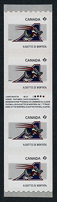 Canada 2566i Gutter pair coil strip MNH CFL Montreal Alouettes, Sports