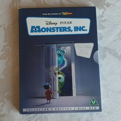 DISNEY - MONSTERS, INC. DVD (Collectors Edition) 2 Disc Set - RARE -