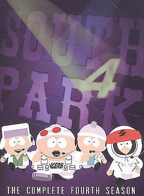 South Park - The Complete Fourth Season (DVD, 2004, 3-Disc Set)  BRAND NEW