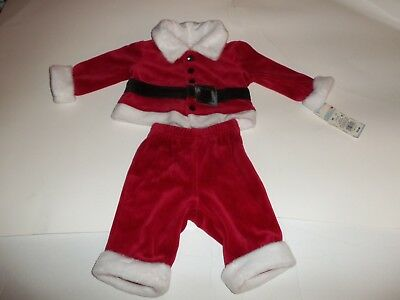 1f62d4104 NWT Baby Cat & Jack Infant Boys Newborn Christmas Outfit Santa 2pc Holiday  Red