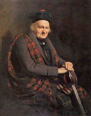 Huge Oil painting male portrait francis grant veteran of culloden free postage