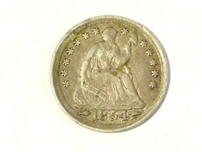 1854 United States USA Half Dime Silver Coin with Arrows #D93