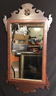 Antique Period Chippendale Mirror c18th Century