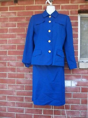 Nwot Harve Bernard Royal Blue Skirt Suit 6
