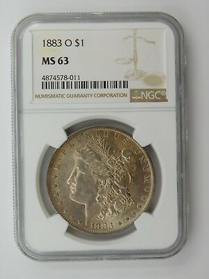 1883 O Morgan Silver Dollar NGC Graded MS 63