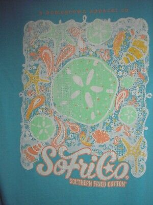 4316452c Southern Fried Cotton Short Sleeve Seaing Stars T-shirt Kids Youth Small New