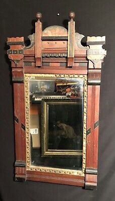Antique Victorian Gothic Revival Mirror Absolutely Stunning