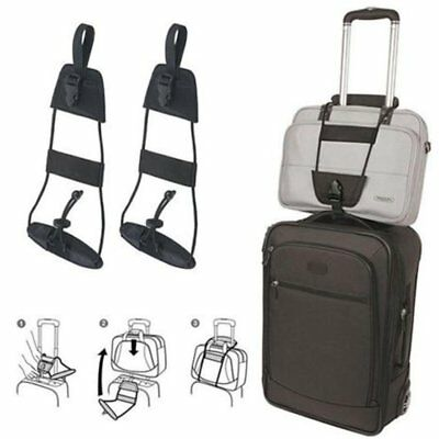 2 x Travel Luggage Suitcase Elastic Tape Belt Add A Bag Strap Carry On Bungee