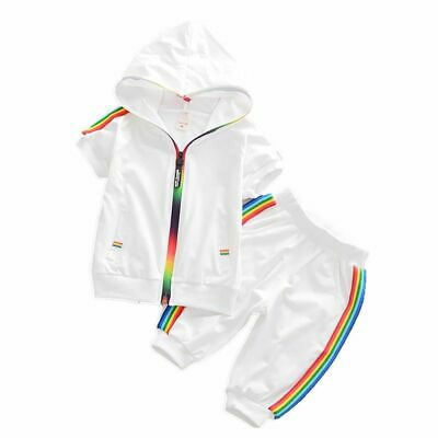 Kids Clothes Sportswear Hoodies Shorts Sets Children Outfit Cotton Tracksuits