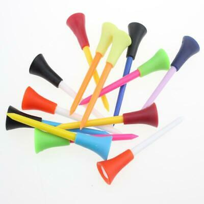 50 Plastic and Rubber Cushion Top Golf Tees (83mm)