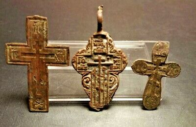Ancient Bronze Crosses, Rare Crosses, Religious Art, Religious Crosses, ORIGINAL