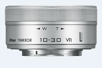 Without Box // Nikon 1 10-30mm F3.5-5.6 PD-Zoom Nikkor VR Lens / Silver