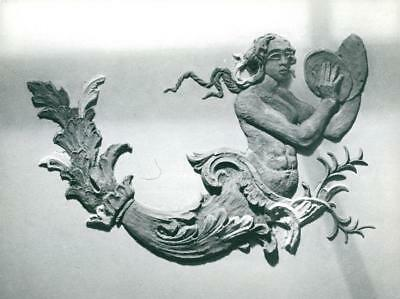 Ceiling piece in the big bottom foyer at the Concert Hall - Vintage photo