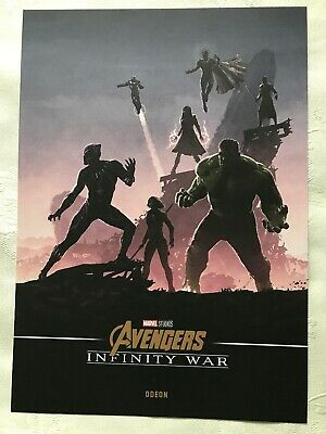 Marvel Avengers Infinity War Official Odeon Poster Black Panther & Hulk