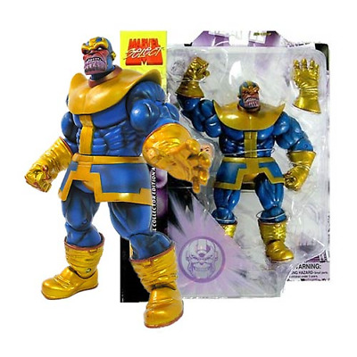 Diamond Marvel Select Thanos Action Figure w/Removeable Infinity Gauntlet