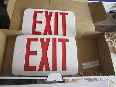 Pair Lighted Exit Sign Replacement Covers