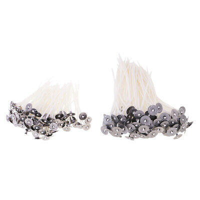 100Pcs Candle Wicks Cotton Core Waxed Wick with Sustainers for DIY Candle