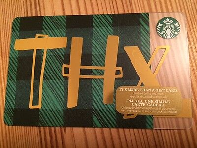 "Canada Series Starbucks ""THX 2016"" Gift Card - New No Value"