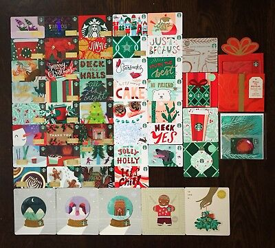 STARBUCKS US SERIES '2018 HOLIDAY CARD SET (50 count)' - BRAND NEW SET